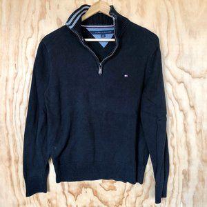 Tommy Hilfiger • Black Quarter Zip Sweater
